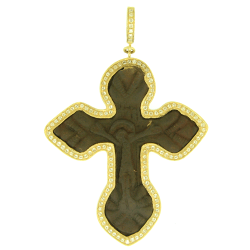 Closeup image for View Ancient Bronze Neck Cross By Cynthia Ann Jewels
