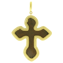Alternate image 1 for White Aqua Bezel Old Russian Cross By Cynthia Ann Jewels