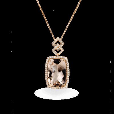 A stunning handpicked Morganite Pendant by designer LaNae