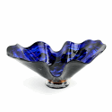 Alternate image 1 for Blue Storm Glass Bowl By Blown Glass