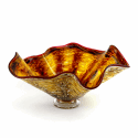 Alternate image 1 for Brown Sun Glass Bowl By Blown Glass
