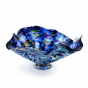 Alternate image 1 for Blue Lagoon Glass Bowl By Blown Glass