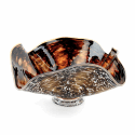 Alternate image 1 for Brown Banana Glass Bowl By Blown Glass