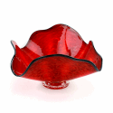 Alternate image 1 for Red Lava Swirl Glass Bowl By Blown Glass