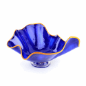 Alternate image 1 for Blue Sea Shell Glass Bowl By Blown Glass