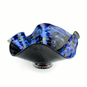 Alternate image 1 for Deep Dark Night Glass Bowl By Blown Glass