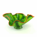 Alternate image 1 for Green Tree Frog Glass Bowl By Blown Glass