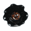 Alternate image 1 for Big Black Van Gogh Glass Bowl By Blown Glass