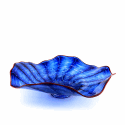 Alternate image 1 for Big Blue Swirl Glass Platter By Lanae