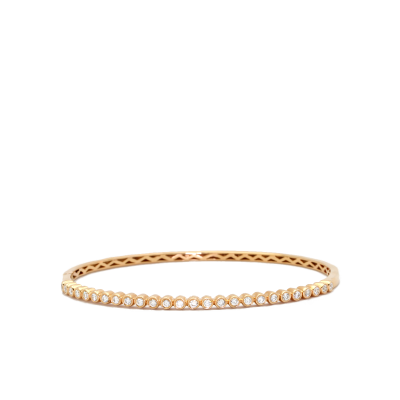 Beautifully crafted LaNae 18k yellow gold and diamond bracelet.