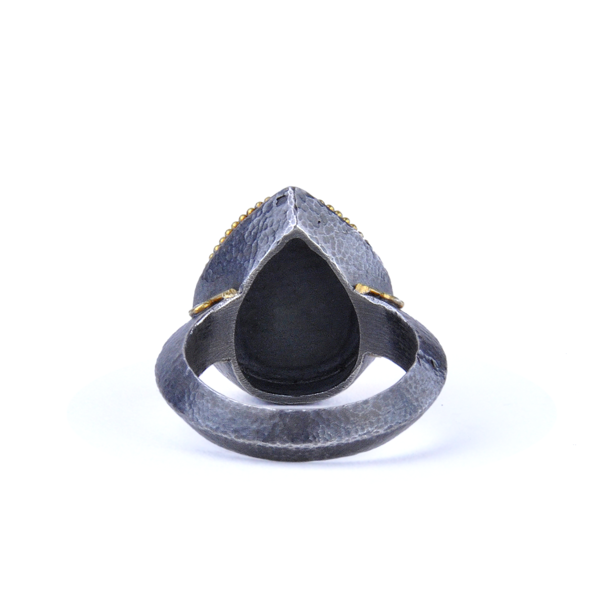 Kurtulan 24K Gold, Oxidized Silver, Diamonds, Rutilated Quartz - alternate