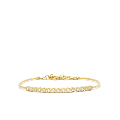 "0.70k Diamonds In 18k Yellow Gold - Bracelet - Width-2.25"" x Height-2.00"""