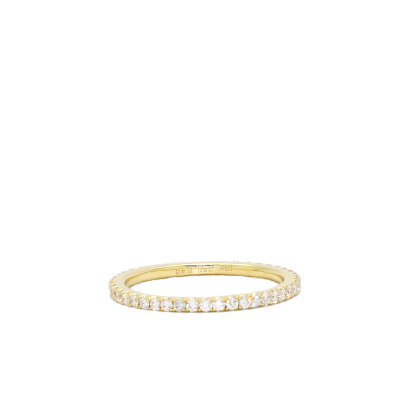 A stunning handpicked 14K Yellow Gold Eternity Ring by designer LaNae. Size 9 only.