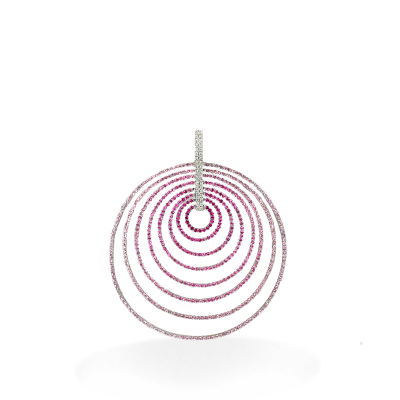 A stunning handpicked Graduated Looping Pendant Pink by designer LaNae