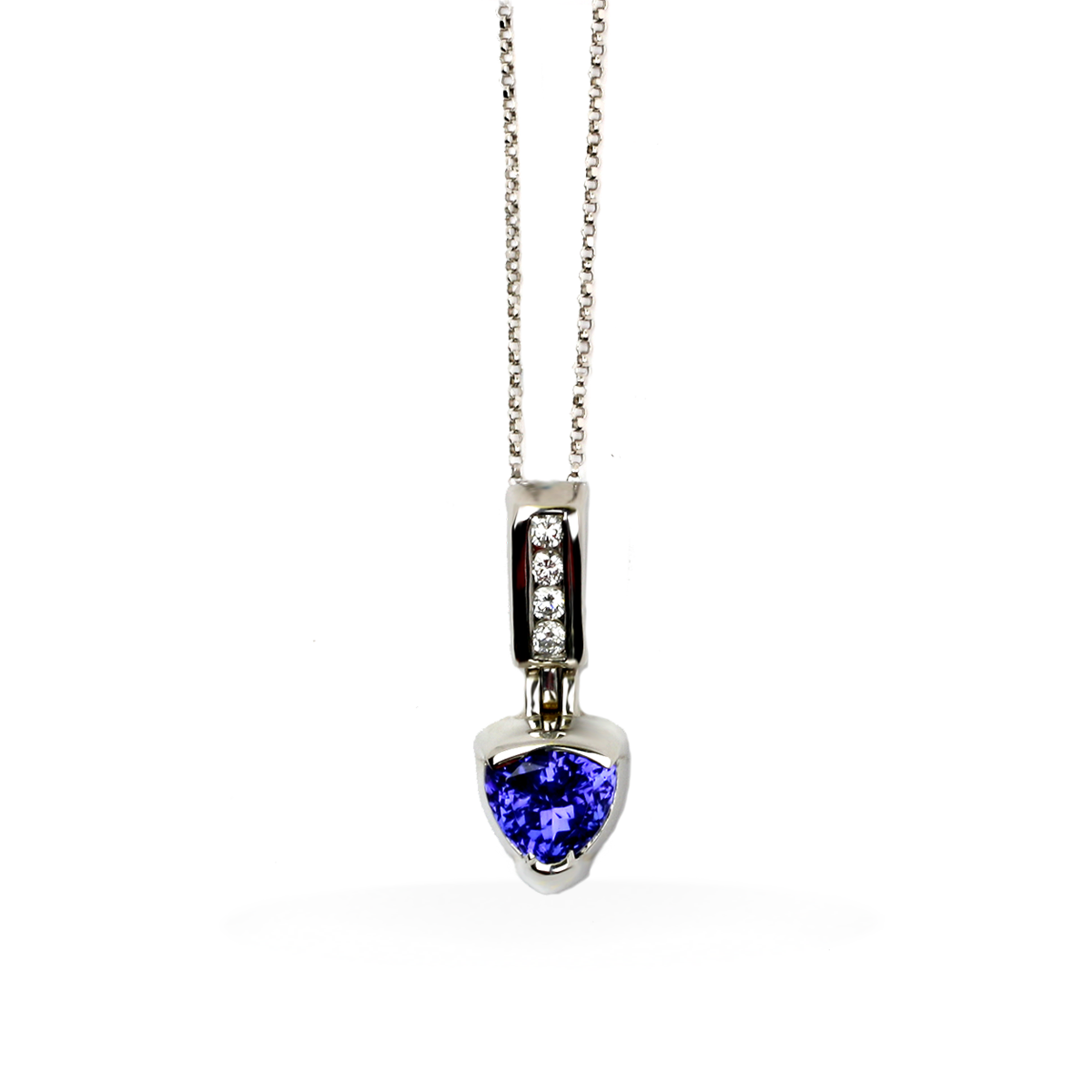 trillion watch tanzanite halo necklace diamond youtube