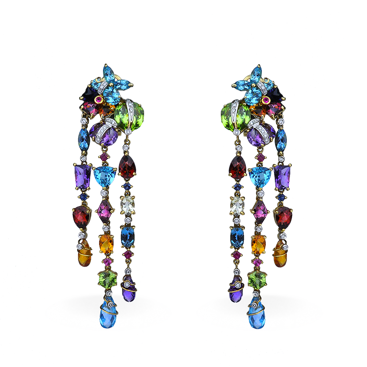 earrings tradesy colored kate chandelier gumdrop spade multi i
