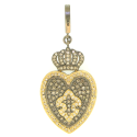Alternate image 1 for Crowned Heart Lock With Fleur Di Lis By Cynthia Ann Jewels