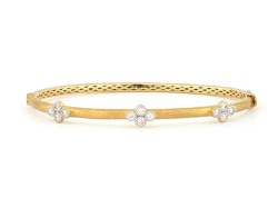 Closeup image for View Provence Bangle With Single Diamond Quad By Jude Frances