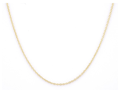 The boston chain features 18k yellow gold links. 16 inches.