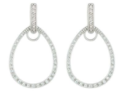 Os pave lacrimais quadros clássicos gota brinco encanto apresentam ouro  branco 18k com diamantes redondos pave 6e6ba52c5b