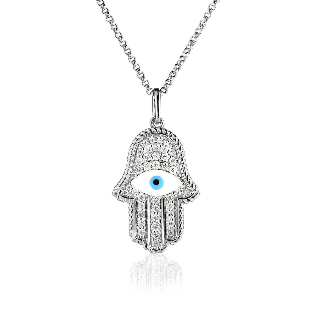 Hamsa Mandala Hand Necklace by LaNae LaNae Fine Jewelry