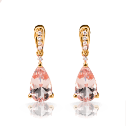 Closeup image for View Morganite Pendant With Rose Gold Lining Diamonds By Lanae