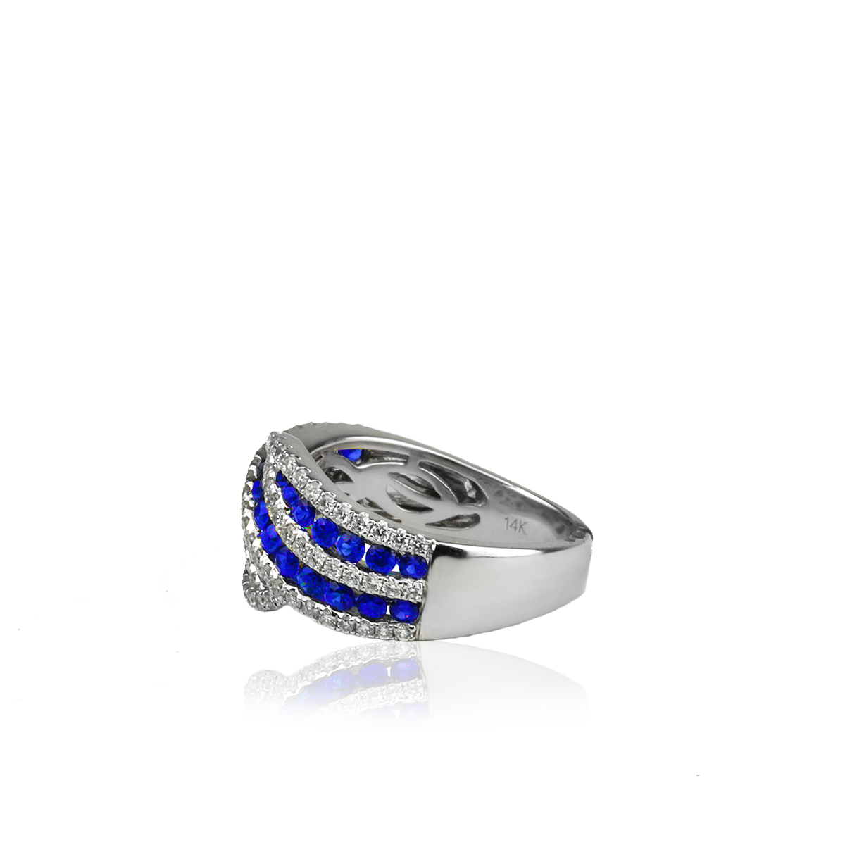 Sapphire Wave Ring - alternate