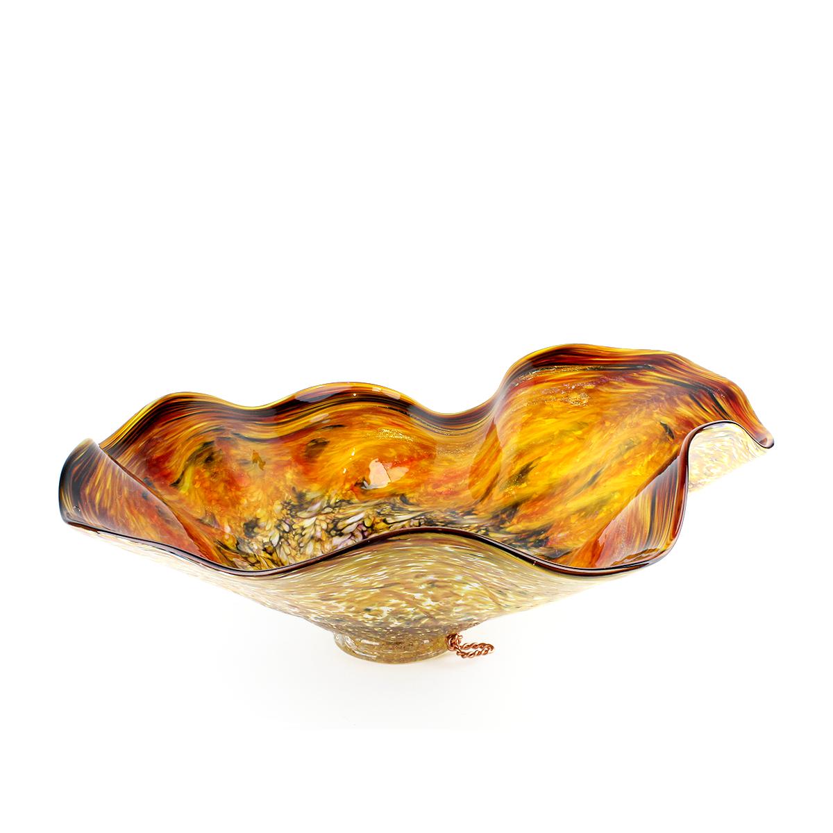 Deep Amber Glass Bowl - alternate