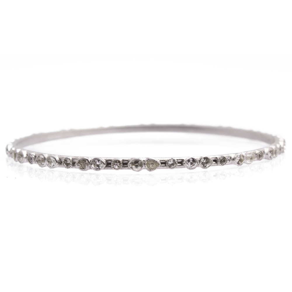 Armenta Marquise White Sapphire Eternity Bangle