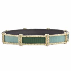 Closeup image for View Glass Mosaic Skinny Bangle Bracelet By Armenta