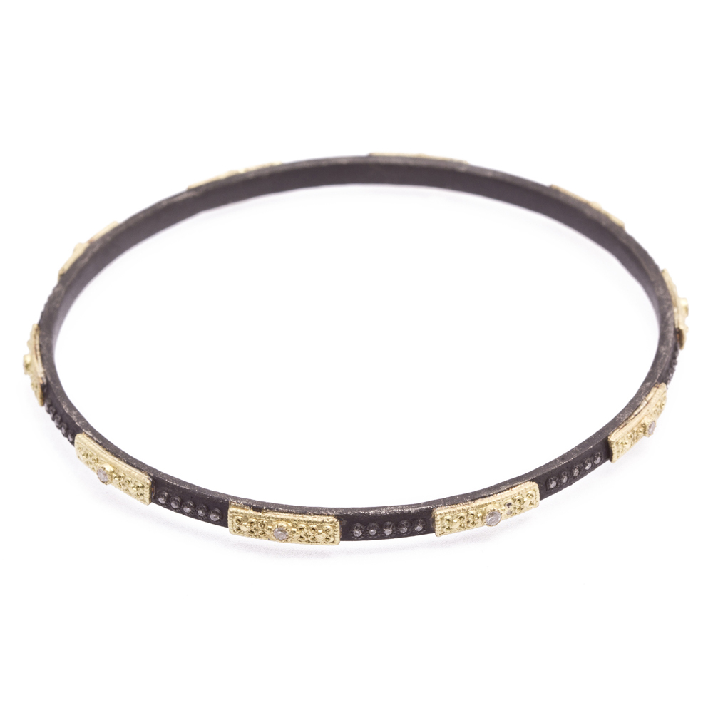 Skinny Square Motif Bangle Bracelet - alternate