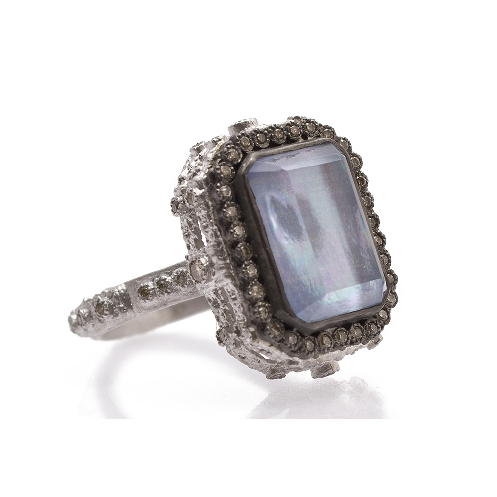 Armenta New World Blue Sapphire & Diamond Stacking Ring x3TtZ