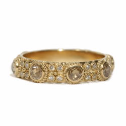 Closeup image for View Round Cut-Out Artifact Ring  By Armenta
