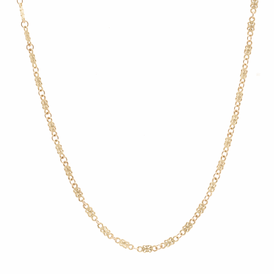 Sueno 18k yellow gold 20 inch petite butterfly link necklace.