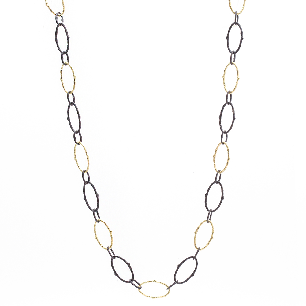 chain k oval gold love london dsc necklace flat link products