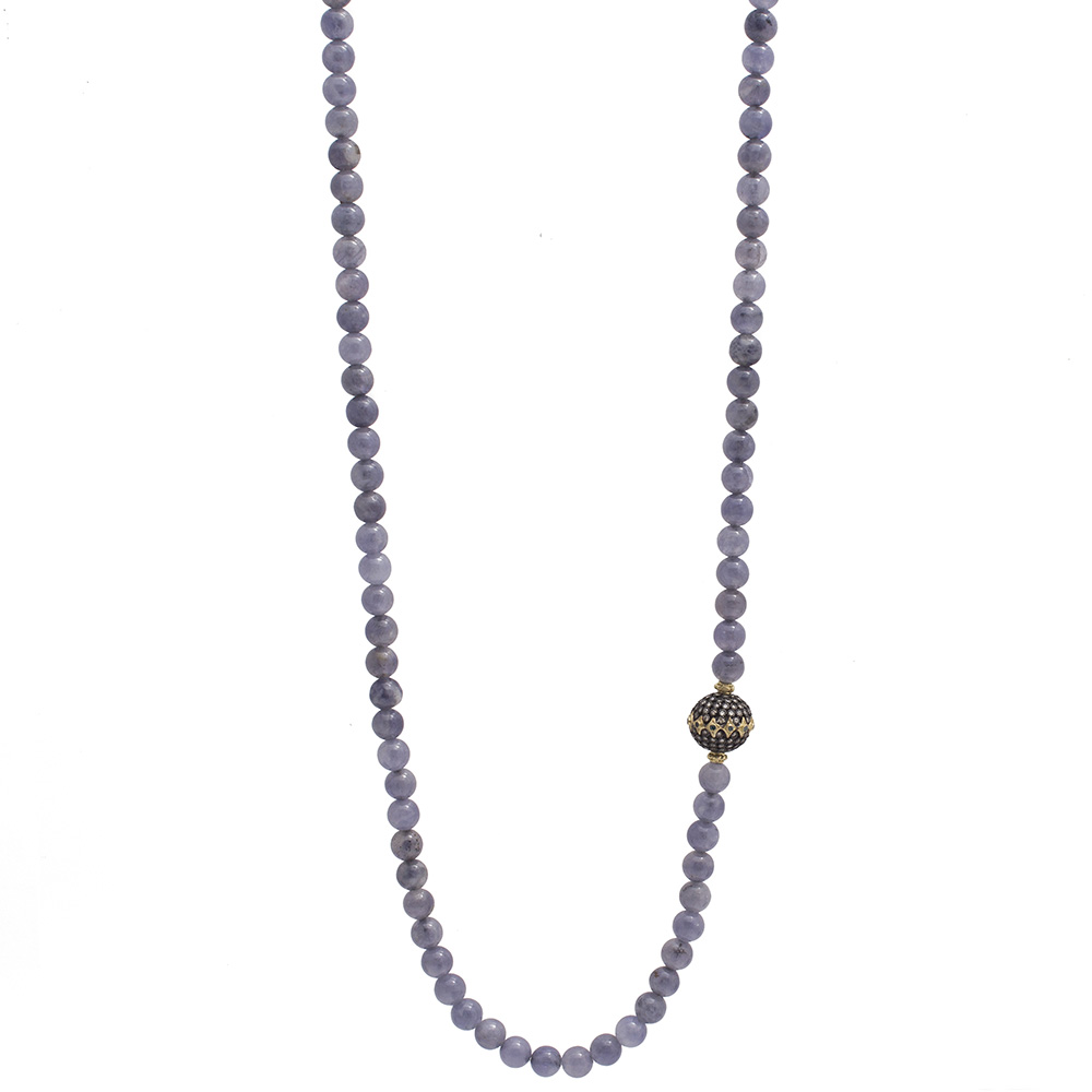 natural designer showcatproduct single silver beaded jewelry strand size iolite beads necklace agbn