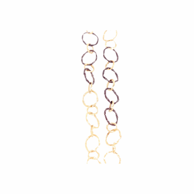 Blackened sterling silver and yellow gold 18