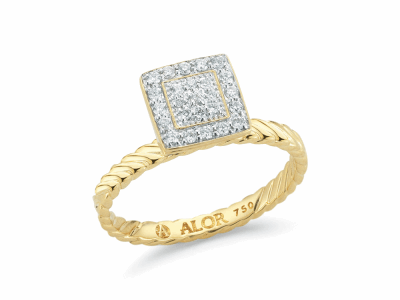 18kt. Yellow Gold and Diamonds 0.18     total carat weight. Imported. - 02-07-1024-11