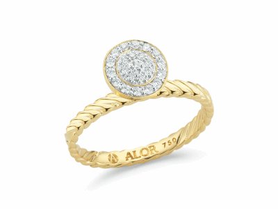 18kt. Yellow Gold and Diamonds 0.16     total carat weight. Imported. - 02-07-1022-11