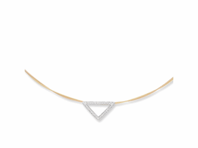 Yellow cable and rose cable, 18 karat White Gold, 0.26     total carat weight Diamonds with stainless steel. Imported. - 08-39-S733-11