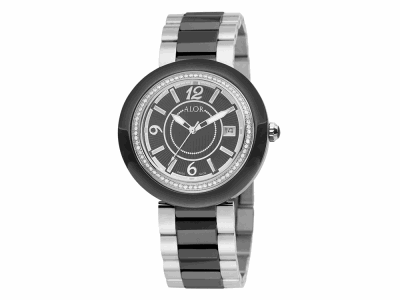 43mm Stainless Steel Swiss made with Black Ceramic/Stainless Steel bezel, Cabochon Crown, double curved sapphire crystal and black dial with silver Arabic markers, 0.73     total carat weight Diamonds (73 stones) on a black ceramic/Stainless Steel bracelet. Water resistant to 3ATM. - CRB-91-2-46-0012