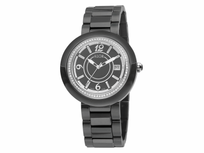 43mm Stainless Steel Swiss made with Black Ceramic/Stainless Steel bezel, Cabochon Crown, double curved sapphire crystal and black dial with silver Arabic markers 0.73     total carat weight Diamonds (73 stones) on a black ceramic bracelet. Water resistant to 3ATM. - CRB-91-2-45-0012