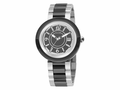 43mm Stainless Steel Swiss made with Black Ceramic/Stainless Steel bezel, Cabochon Crown, double curved sapphire crystal and black dial with silver Arabic markers on a black ceramic/Stainless Steel bracelet. Water resistant to 3ATM. - CRB-90-2-46-0012