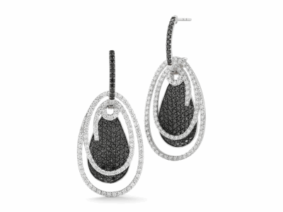 18 karat White Gold and Diamonds 0.90     total carat weight White, 1.84     total carat weight Black Diamonds. Imported. - 03-08-BL08-18