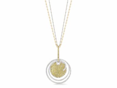 18 karat White Gold and Diamonds 0.96     total carat weight White, 1.16     total carat weight Yellow Diamonds. Imported. - 08-08-BL10-32