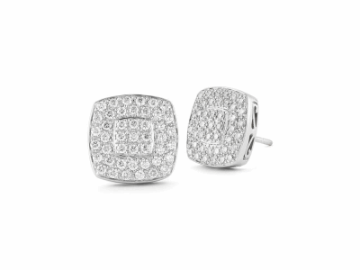 18 karat White Gold, 0.75     total carat weight Diamonds and stainless steel. Imported. - 03-28-9604-11