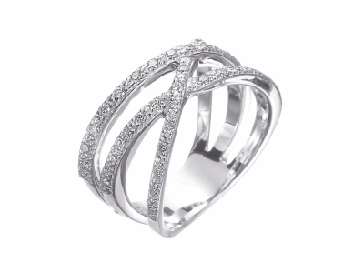 18 karat white gold and diamonds 0.35     total carat weight. Imported. - 02-08-1507-11