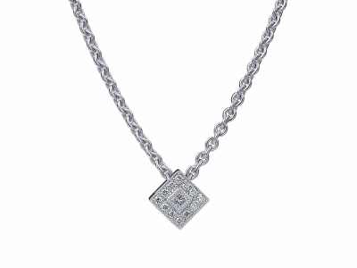 18 karat White Gold and Diamonds 0.23     total carat weight. Imported. - 08-08-6014-11