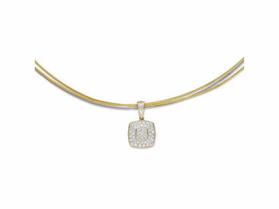 Yellow cable and grey cable, 18 karat Yellow Gold, 0.41     total carat weight Diamonds with stainless steel. Imported. - 08-34-S964-11