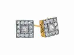 Closeup image for View Crivelli Hoop Diamond And Sapphire Earrings - Large By Armenta